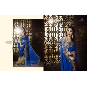 Beautiful Blue Amira Designer Saree