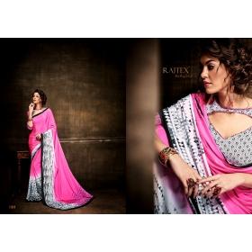 Present Exclusive Bollywood Designer Kasturi Crepe Saree