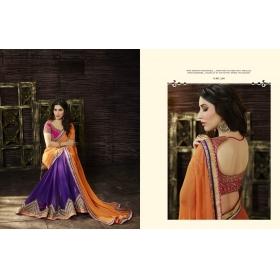 Beautiful Orange Amira 1200 Designer Saree