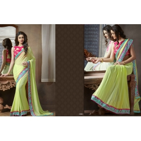 0e10bcdaf9 Self Design Bollywood Georgette Saree