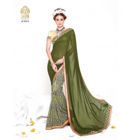 Self Design Bollywood Georgette Saree