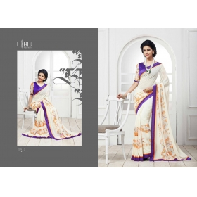 Multicolor Designer Printed  Georgette Saree