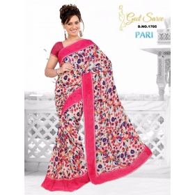 Special New Designer Printed Blouse Saree