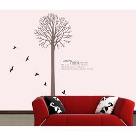 Ay802 Love Poem Tree Nature Wall Sticker  Jaamso Royals