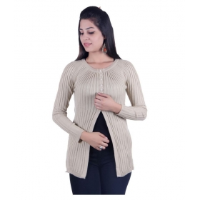 Woollen Beige Buttoned Cardigans