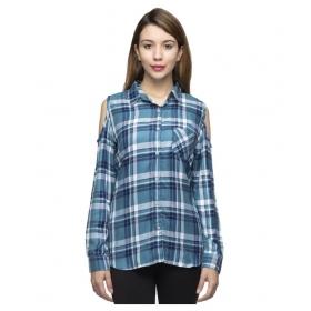 Stylish Full Sleeves Femme Cotton Shirt