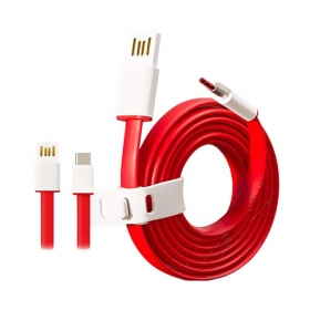 Oneplus Red Type C Data Cable For Oneplus, Letv, Google, Motorola, Samsung, Lenovo, Xiaomi, Coolpad, Honor, Nokia, Oppo