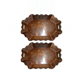 Wooden Bar Tray 2 Pcs