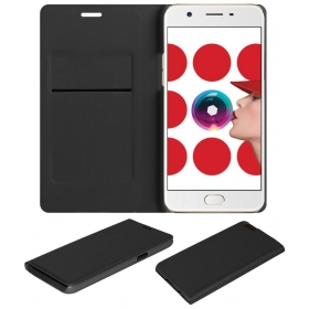 Oppo A57 Flip Cover By Acm - Black