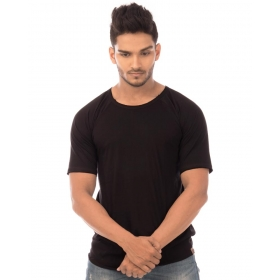 Jet Black Plain Tshirt Half Sleeve T Shirt