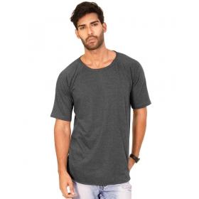 Charcoal Melange Plain Tshirt Half Sleeve T Shirt