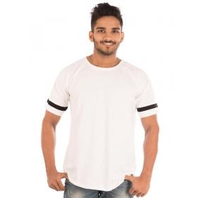 Brilliant White Trendy Basics Half Sleeve T Shirt