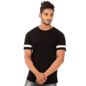 Jet Black Trendy Basics Half Sleeve T Shirt