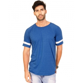 1ee7bd58 Royal Blue Melange Trendy Basics Half Sleeve T Shirt