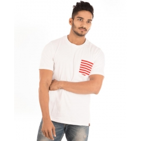 Brilliant White Pocket Half Sleeve T Shirt