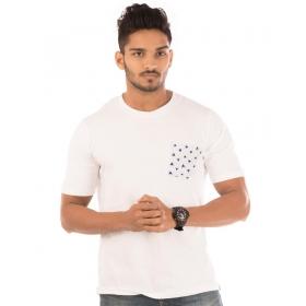Brilliant White Pocket Half Sleeve T Shirt