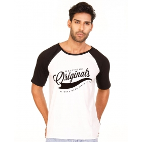 Originals Jet Black-brilliant White Vayu Collection Half Sleeve T Shirt