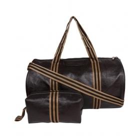 Osaiz Brown Solid Duffle Bag