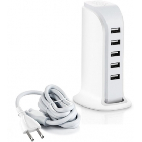 Power Port 5 - 40w 4-port  Charger  (white)