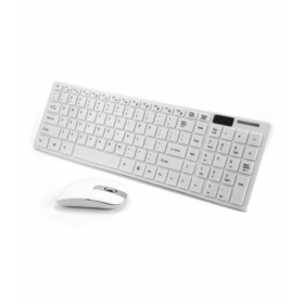 K688 White Bluetooth Keyboard Mouse Combo