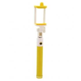 Yellow Aux Wire Selfie Stick - 100 Cm