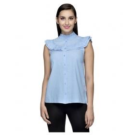 Curve Sleeveless Cotton Shirt