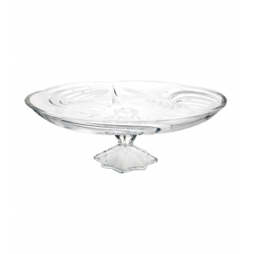 Glass Serving Platter Footed