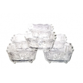 Glass Bowl 6 Pc Small