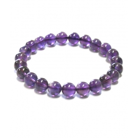Excel Beads Rhodium Plating Crystal Studded Purple Coloured Bracelet