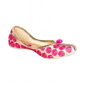 Beige Flat Ethnic Footwear