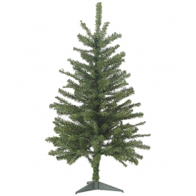 Partyhut Plastic Christmas Tree Green- 0.65 Ft (pack Of 1)