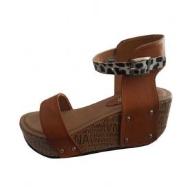 Tan Platforms Ethnic Footwear