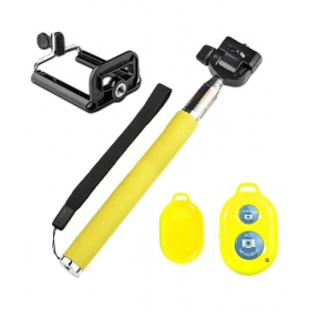 Bluetooth Wireless Remote Selfie Stick - Yellow