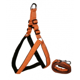 High Quality Nylon With Padding Dog Harness 1.25 Inch Orange