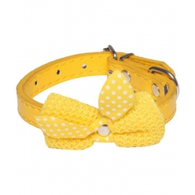 Imported Collar With Cute Bow Small Puppy & Cats Collar