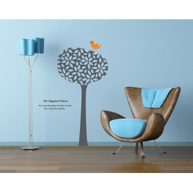 Ay720 Birds On Tree Nature Wall Sticker  Jaamso Royals