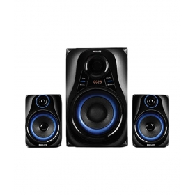 Philips Mms2580b Blue Dhoom 2.1 Bluetooth Speakers - Black