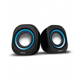 Philips Spa25a/94 2.0 Speakers - Blue