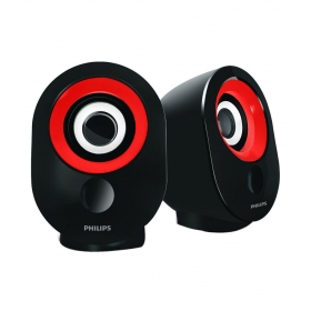 Philips Spa 50 R / 94 Usb 2.0 Computer Speakers - Red