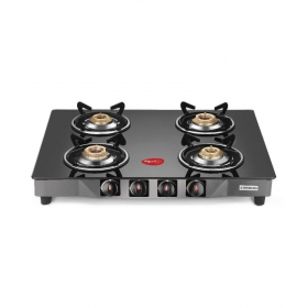 Pigeon Carbon 4 Br 4 Burner Glass Manual Gas Stove