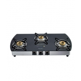Pigeon Gas Stove Blackline 3 Burner Oval - Auto