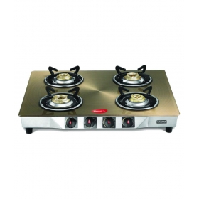 Pigeon Metallic Gold 4 Burner Manual Gas Stove