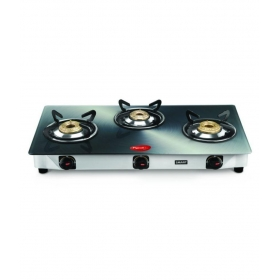 Pigeon Metallic Silver 3 Burner Manual Gas Stove