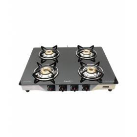 Pigeon Smart Glass Top 4 Burner - Black