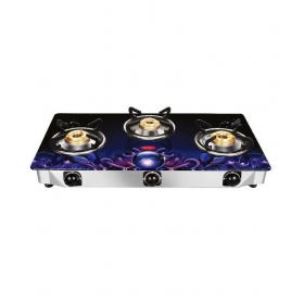 Pigeon Zeus 3 Burner Glass Manual Gas Stove