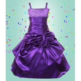 Girls Party Wear Purple Dress