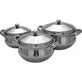 3 Pc Royal Handi Set - Mirror Polish