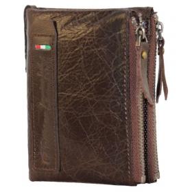 Pollstar Leather Brown Fashion Regular Wallet