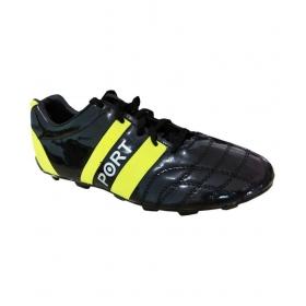 Port Dozzell Black Football Shoes