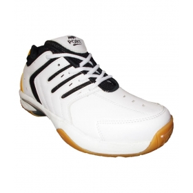 Port Sparky White Basketball Shoes